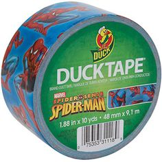 "Duck 1.88"" x 10 yards Duct Tape, Spiderman"
