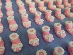 baby shower cupcakes - Booties to put on cupcakes