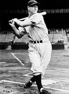 Pride of the Yankees - Lou Gehrig,  lost to the devastating awful fatal disease which took his name.