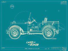 Land Rover diagram. #LandRover #Defender #original #diagram #drawing