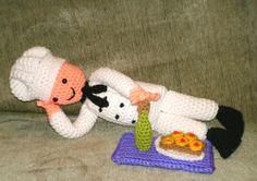 Chef Jeff Crochet Amigurumi Toy