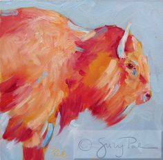 Contemporary Artists of Texas: Day 17-Wyoming Buffalo by Suzy 'Pal' Powell