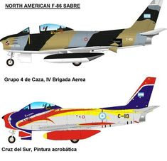 North American F-86 Sabre of Argentinian Air Force.