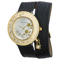 Burgi Women's Diamond Swiss Quartz Multifunction Dual-Time Leather Strap Watch - Overstock Shopping - Big Discounts on Burgi Burgi Women's Watches