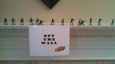 Nerf Gun Party Ideas- Army men used for sharp shooting...so easy and cheap!