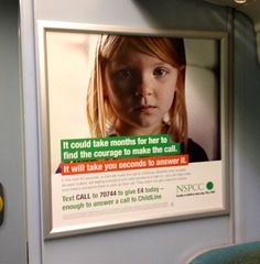 New NSPCC text-to-donate poster
