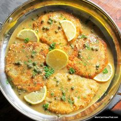 Pork Loin Piccata | tender, lean and easy to prepare | Low Carb, Gluten-free, Dairy-free, Paleo | momcanihavethat.com - Must try this!!