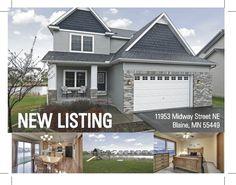 11953 Midway St. NE, #Blaine, #MN. #NewListing #RealEstate www.BlaineHomeSource.com