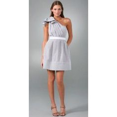 Francesca'S One-Shoulder Ruffle Dress