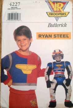 Butterick 4227 1990s  RYAN STEEL 21 Inch Trooper Doll by mbchills