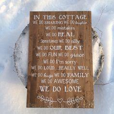 Cottage wood sign