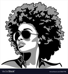Black Woman Silhouette, Silhouette Images, Girl Silhouette, Silhouette Vector, Afro Hair Vector, Free Black Girls, Black Women, Beautiful African Women, Arte Sketchbook