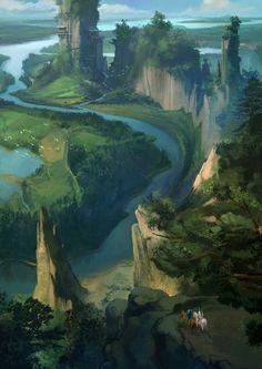 望乡, Ming Chang on ArtStation at https://www.artstation.com/artwork/k2Kl6