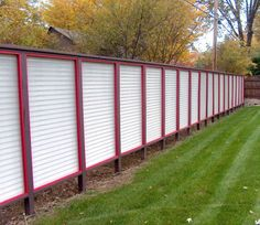 aluminum fence.  not a fan of the red though.