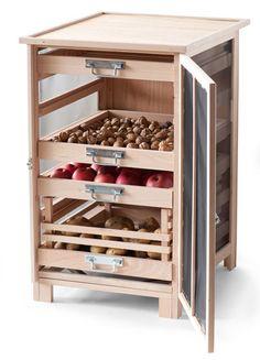 Armário de armazenamento # wood # storage in 2020 Kitchen Room Design, Kitchen Cabinet Design, Modern Kitchen Design, Home Decor Kitchen, Interior Design Kitchen, Home Kitchens, Diy Home Decor, Decoration Crafts, Pallet Ideas