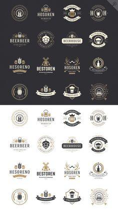 45 Beer Logotypes and Badges by Vasya Kobelev on @creativemarket