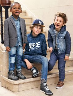 From classroom to playground, denim will have your little ones covered for whatever the school day brings. | H&M Kids