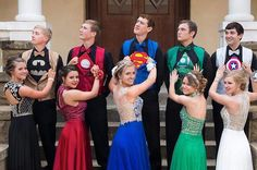 After the prom, Bolinger posted the photo to his Facebook page. It totally blew up, and has since been shared more than hundreds of thousands of times. | People Are Loving These Teens And Their Perfectly-Coordinated Superhero Prom Outfits