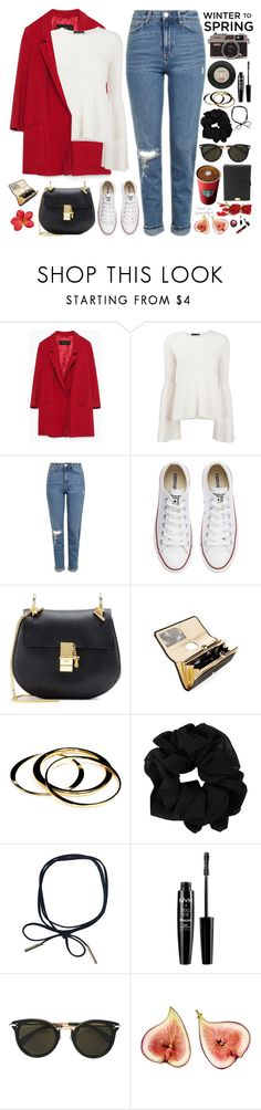 """""""2531. Make up your mind that no matter what comes your way, no matter how difficult, no matter how unfair, you will do more than simply survive. You will thrive in spite of it."""" by chocolatepumma ❤ liked on Polyvore featuring Zara, The Row, Topshop, Converse, Chloé, Ted Baker, Janna Conner, NYX, CÉLINE and Lodis"""
