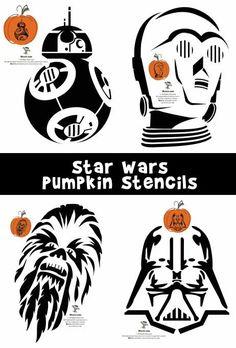 Star Wars Pumpkin Stencils - Woo! Jr. Kids Activities http://www.woojr.com/star-wars-pumpkin-stencils/ via Woo! Jr. Network