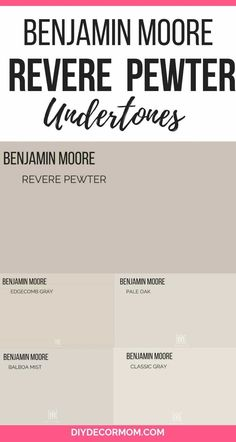 Benjamin Moore& Revere Pewter is the perfect gray paint color for your living room! It is a wonderful light gray that goes well in any color scheme! See how BM Revere Pewter looks in all different types of rooms in this post including kitchens, dining ro Interior Paint Colors For Living Room, Paint Colors For Home, Living Room Colors, Living Room Grey, House Colors, Revere Pewter Living Room, Revere Pewter Kitchen, Entryway Paint Colors, Neutral Living Room Paint