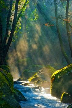 Sunray Waterfall, Valle Treja, Italy photo via silestine, Provinceof Rome Lazio region.