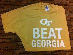Georgia Tech Beat Georgia T-Shirt - Go Jackets!