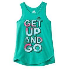 Toddler Girl Adidas Graphic Tank Top, Size: 3T, Brt Green