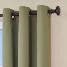 Eclipse Microfiber Blackout Window Curtain Panel in Moss - 42 in. W x 84 in. - The Home Depot Blackout Panels, Blackout Windows, Blackout Curtains, Beige Curtains, Grommet Curtains, Window Panels, Window Curtains, Eclipse Curtains, All Of The Lights