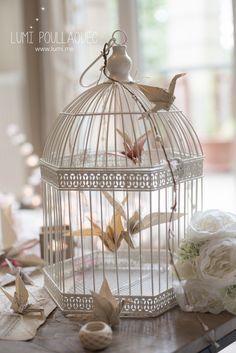 Décoration Cage à oiseaux avec origami