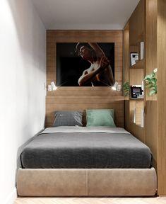 27m2-es pici lakás modern berendezése - biokandalló, kényelmes konyha, fa felületek, külön hálórész