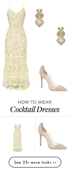 """""""Untitled #10364"""" by danisalalkamis on Polyvore featuring Marchesa, Kate Spade and Gianvito Rossi"""