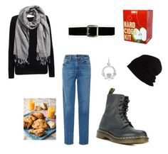 """Bacchus gettin skizzard before the blizzard"" by magicyeast on Polyvore featuring Cocoa Cashmere, Khaite, Express, Dr. Martens, SCHA, Brooklyn Brew Shop and H&M"