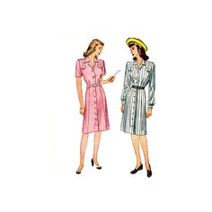 Simplicity 1273 1940s  Vintage Sewing Pattern Misses Rockabilly by retromonkeys