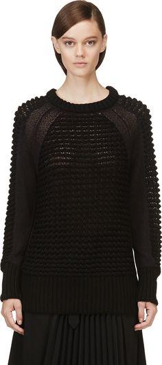 Helmut Lang - Black Macro Grid Pullover