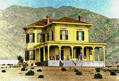 This was the Woodbury farm house. One of the earliest homes in Altadena Farm House, The Past, Lost, California, Homes, Mansions, House Styles, Prints, Houses