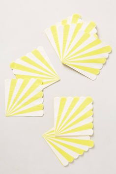so fun for summer celebrations! the stripes are like little umbrellas or cabanas. // paper napkins at anthropologie