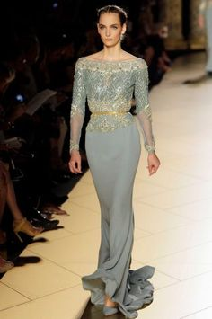 Elie Saab -Women's Fall Winter 2013 haute couture fashion collection in Paris, France
