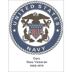 "U.S. Navy Emblem Counted Cross Stitch Kit-10.6""X13.1"" 14 Count"