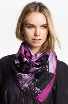 Echo 'Eiffel Tower' Square Silk Scarf available at #Nordstrom