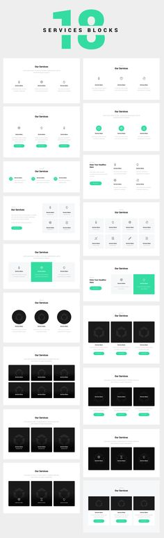 """18 Services Blocks or Wireframe. In the """"Services"""" section, you need clearly for. Website Design Layout, Web Design Tips, Web Layout, Web Design Inspiration, Page Design, Layout Design, Ux Design, Design Process, Wireframe Design"""