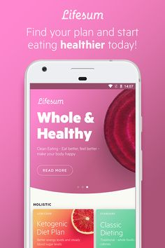 Trying to eat better? Just pick one of Lifesum's different eating plans to get tips and recipe inspiration. The app makes it easy to achieve your health goals. Download it today to get started, it's free!