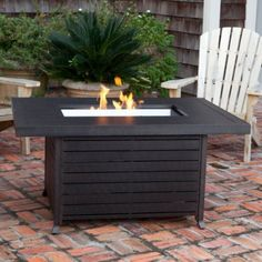 Fire Sense Rectangular Fire Pit Table with Cover