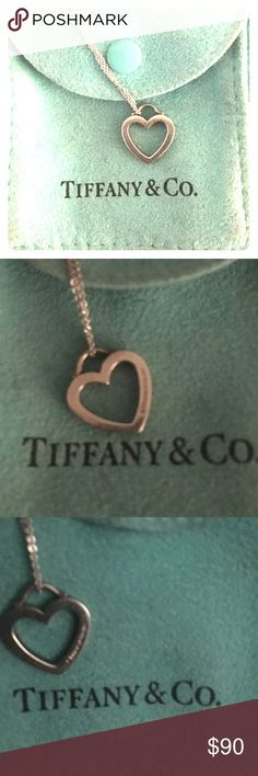 Tiffany & Co. Heart necklace Sterling silver Tiffany open heart necklace. Tiffany & Co. Jewelry Necklaces