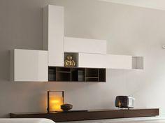 Parete attrezzata componibile laccata SLIM 7 by Dall'Agnese design Imago Design, Massimo Rosa
