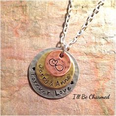 SALE Forever Love Textured Custom Personalized by ILLBECHARMED, $25.00