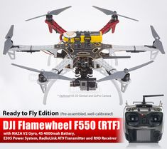 DJI Flamewheel F550 Drone in RTF (Ready to Fly) package, we build it for you! We are currently selling DJI frame set combo, all are great value and great quality, but you need to assemble it yourself. Don't worry, we can build it for you! Which to