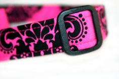 Dog Collar in Stunning Hot Pink by RockinRavens on Etsy, $17.00