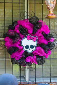 Monster High Theme 8th Birthday Slumber Party.