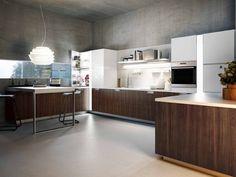cucina senza maniglie: si apre con le